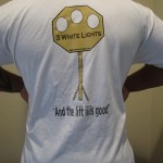 Men apparell white t-shirt (powerlifting logo)