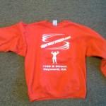 Red sweatshirt w/ logo