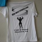women white t-shirt logo on back