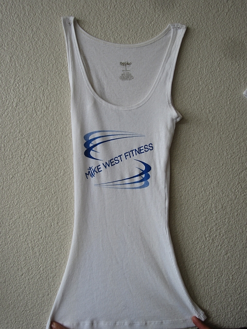 Womens white ribbed tank