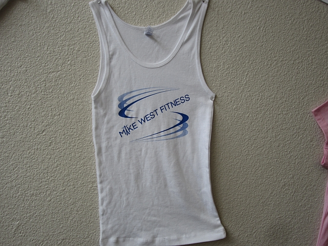 Women tank (not ribbed a little shorter length wise) (logo on front)